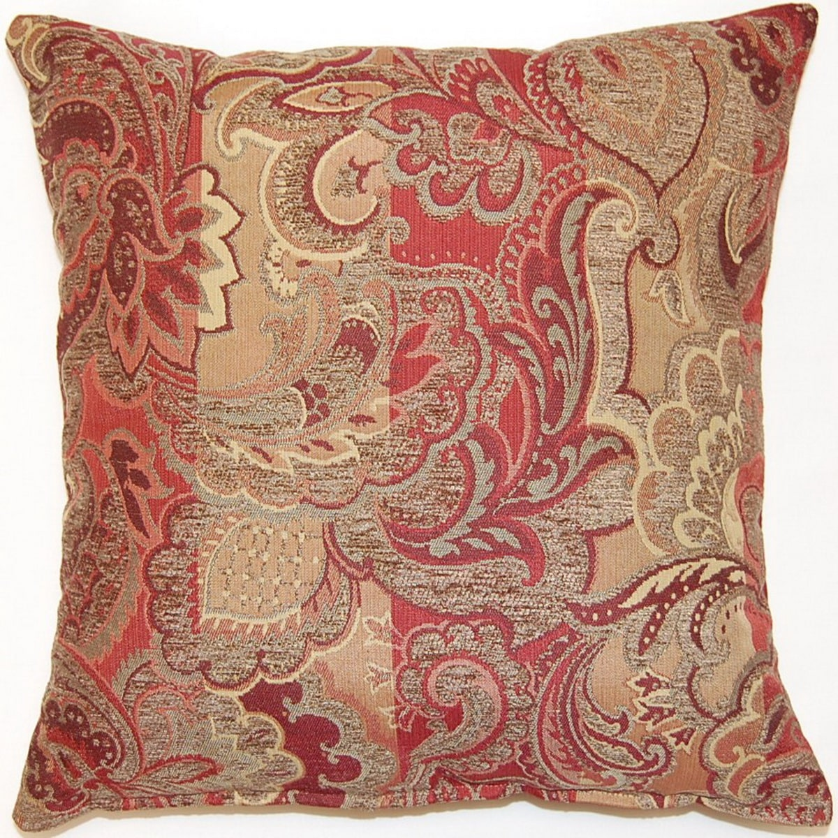 Fox Hill Trading Cambridge Crimson 17-inch Throw Pillows (Set of 2)