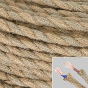 Vintage Braided Rope Wire Electrical Cable For Edison Pendant-Lamp Fitting-Rope