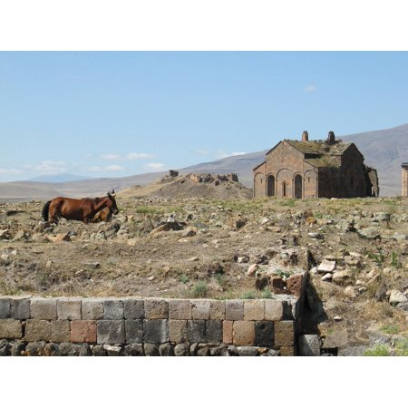 LAMINATED POSTER Ani Church Turkey Countryside Horses Travel Ruins Poster Print 24 x - Adult Ani