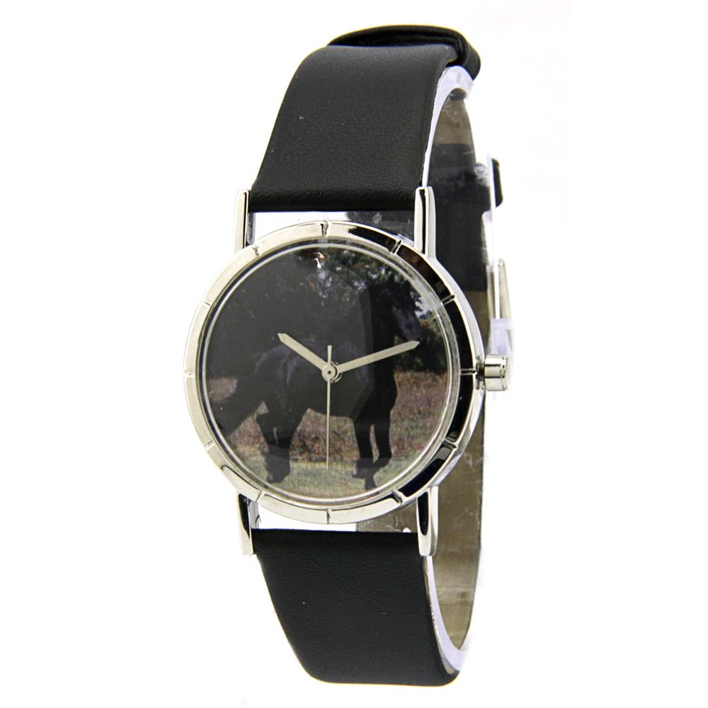 Whimsical Friesian Horse Stainless Steel  Women Watch