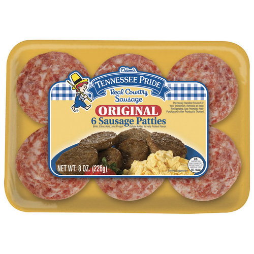 Tennessee Pride Original Sausage Patties, 6ct