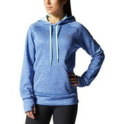 ADIDAS Womens Team Issue Fleece Climawarm Pullover Hoodie Sweatshirt (X-Large, Bold Blue/Frost Blue)