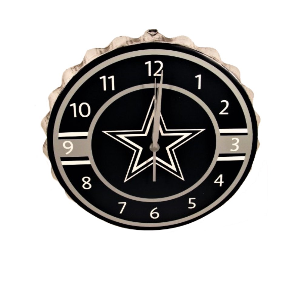 NFL Dallas Cowboys Bottlecap Clock, Dallas Cowboys