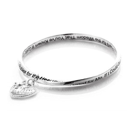 Novadab Mother Poem Butterfly Charm Bracelet , Mother's Day Gifts (Mother Charm Bracelet)