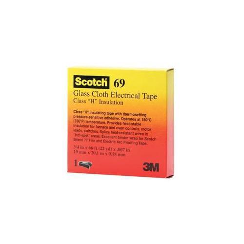 3M Electrical 500-09910 69 3-4X66 Scotch Glass Cloth Tape