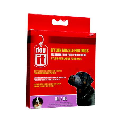 Dogit Nylon Dog Muzzle Black XL (Nylon Fabric Dog Muzzle)