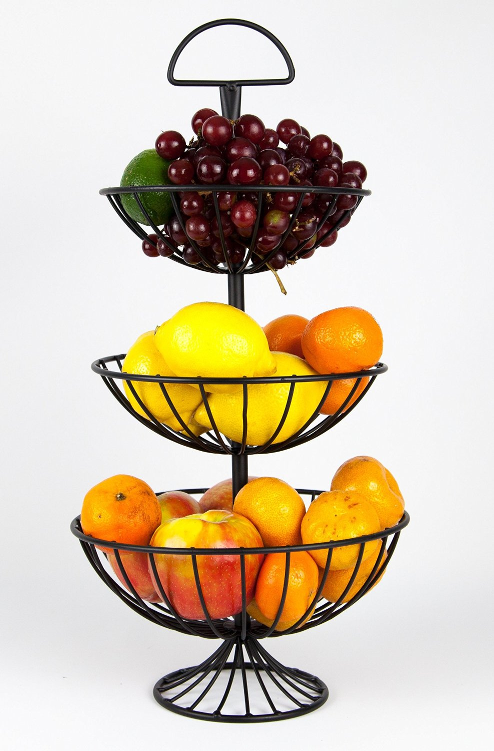 Useful UH FB177 3 Tier Decorative Wire Fruit Basket Countertop Stand    Walmart.com