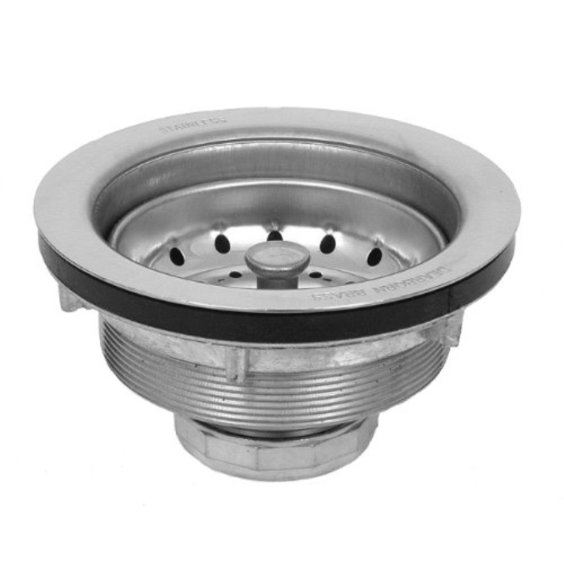 """Kitchen Sink Strainer 2/"""" With Basket Rubber Stopper and Metal Locknut Incld."""
