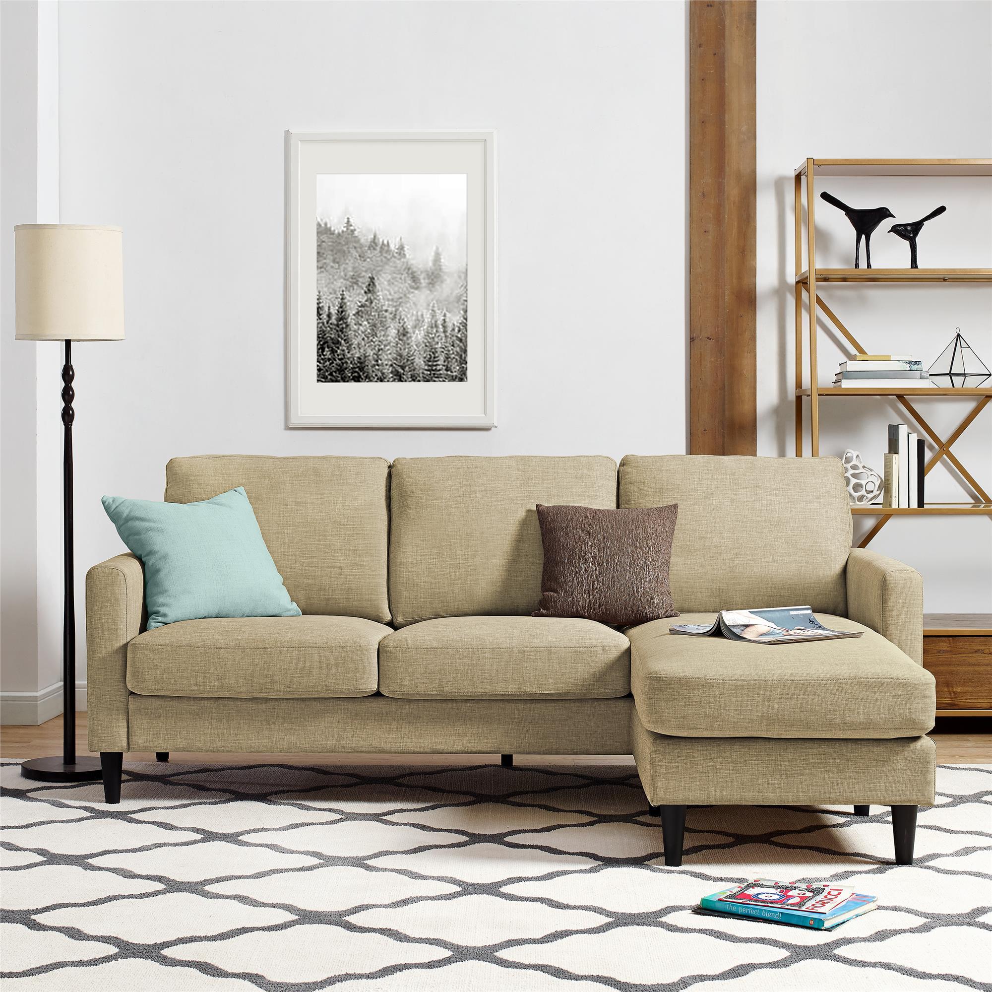 Dorel Living Kaci Sectional, Reversible, Multiple Colors
