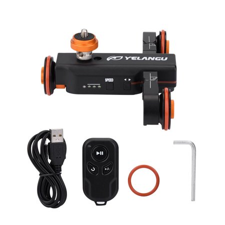 Mini Motorized Video Slider Electric Rolling 3-Wheel Dolly Pulley Car Skater for DSLR Camera Camcorder Smartphone - image 1 de 8