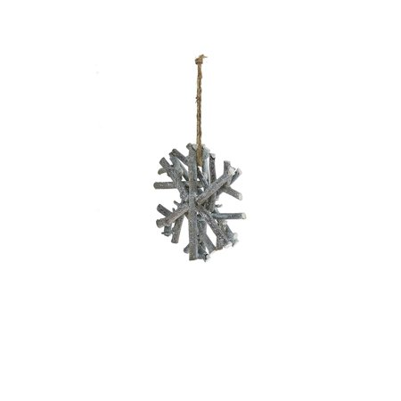 Pack of 6 Handmade Country Rustic Gray Glitter Twig Snowflake Christmas Ornaments (Handmade Christmas Ornament Patterns)