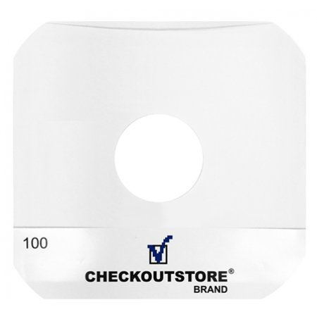 1000 Sleeves (1000 CheckOutStore Paper Record Inner Sleeves Round Corners With Hole for 12