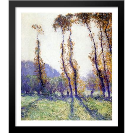 October Rose (October Morning 28x32 Large Black Wood Framed Print Art by Guy Rose )