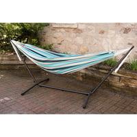 Vivere Sunbrella Token Surfside Hammock with Steel Stand