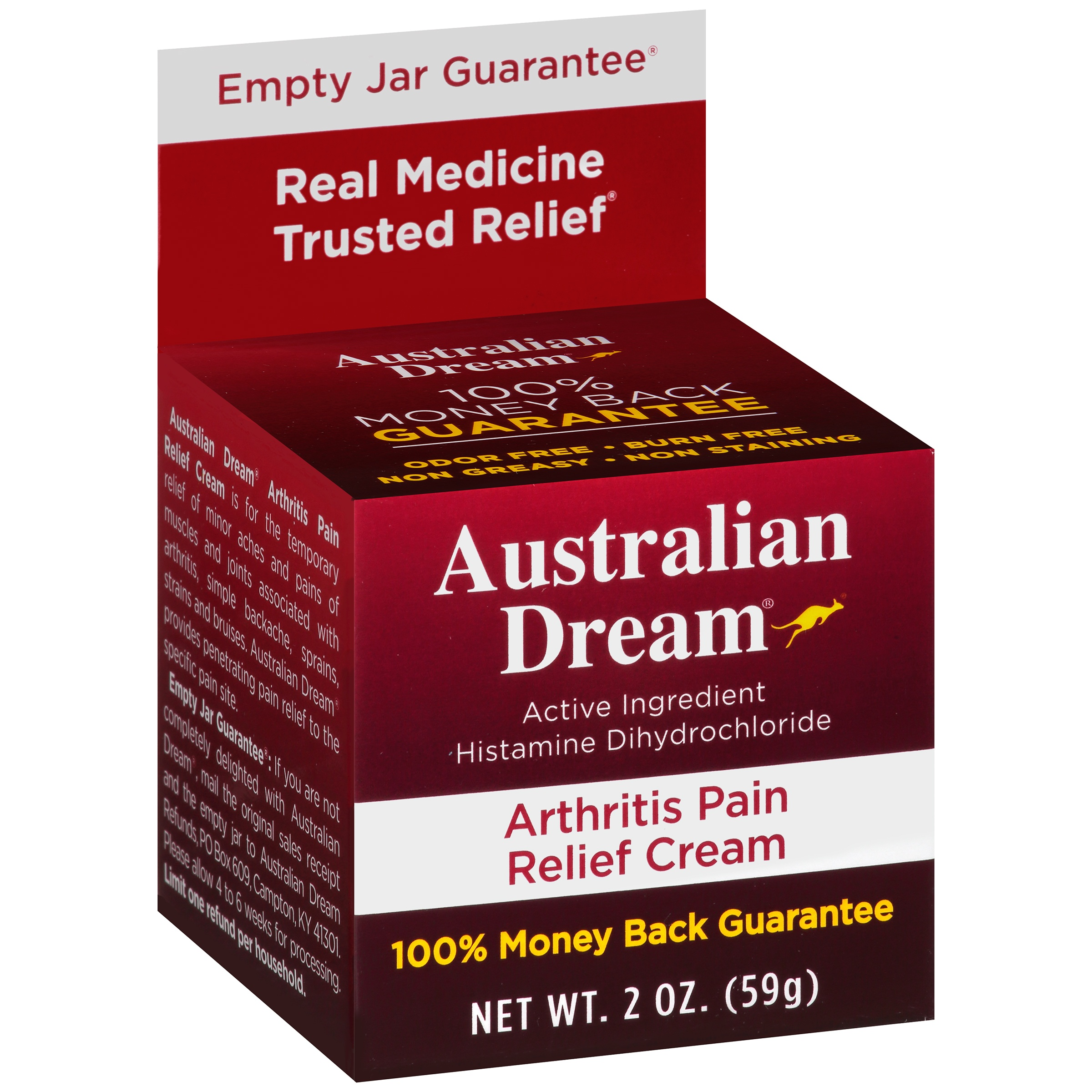 Australian Dream Arthritis Pain Relief Cream, 2 oz