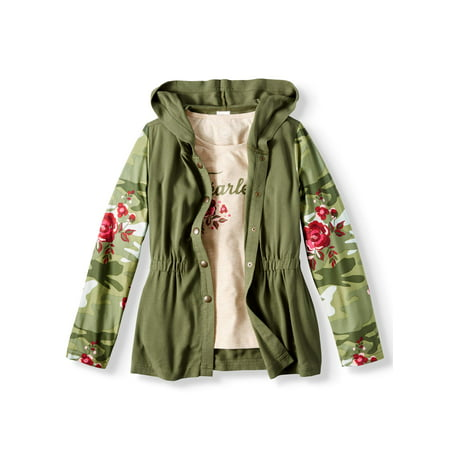 Challis Anorak Jacket and Graphic T-Shirt, 2-Piece Set (Little Girls & Big Girls)
