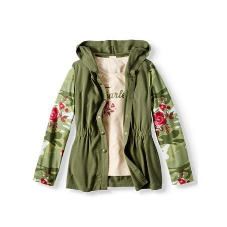 Challis Anorak Jacket and Graphic T-Shirt, 2-Piece Set (Little Girls & Big Girls) - Baby T Bird Jacket
