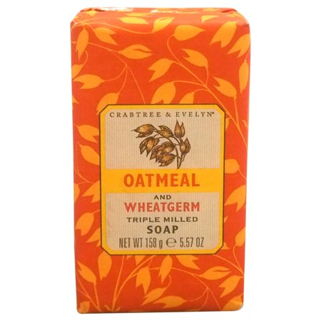 Crabtree & Evelyn Oatmeal & Wheatgerm Triple Milled Soap, 5 57 Oz