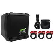 "Mackie DLM12 2000W 12"" Full-Range Class D Active DJ PA Speaker+Headphones+Cables"