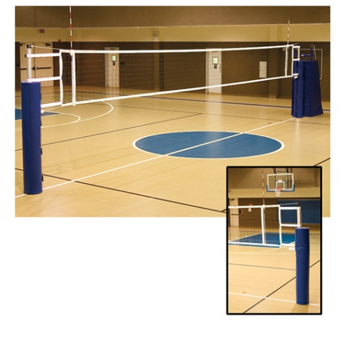 Aluminum Volleyball Standard & Pad by Alumagoal, Telescopic