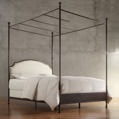 Homelegance Swindon Upholstered Metal Canopy Bed