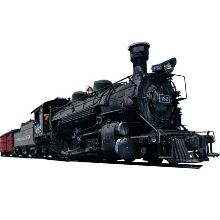 - VWAQ Locomotive Wall Decal Realistic Steam Train Sticker Kids Room Wall Decor VWAQ-PAS14 (8