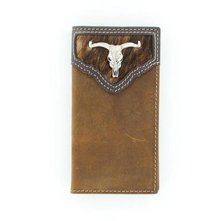 Rodeo Wallet - Longhorn Steer Skull Concho Rodeo Wallet, Medium Brown - One Size