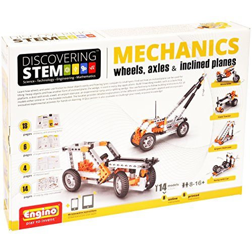 Engino STEM Mechanics, Wheels, Axles and Inclines