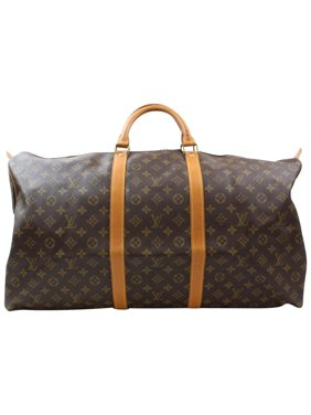 6a86c7d3990 Product Image Keepall Duffle Monogram 60 869085 Brown Coated Canvas  Weekend Travel Bag. Louis Vuitton