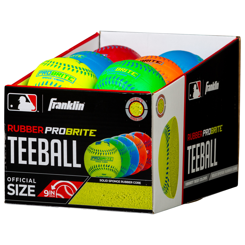 Franklin Sports Pro Brite Neon Rubber Teeballs 3 Pack