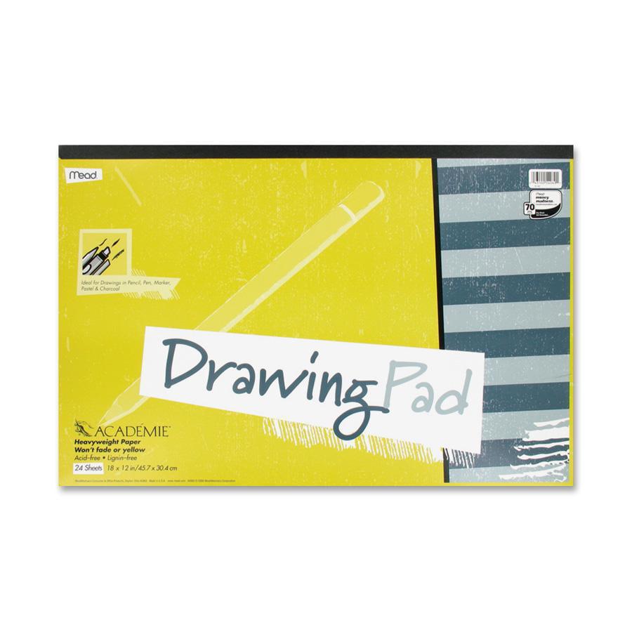 Mead, MEA54060, Academie Drawing Pad, 1 Each