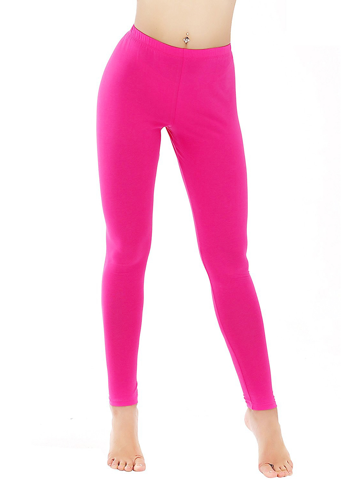 SAYFUT Womens Juniors' Stretch Leggings Fluorescent Colors Tights Workout Gym Sports Yoga Pants