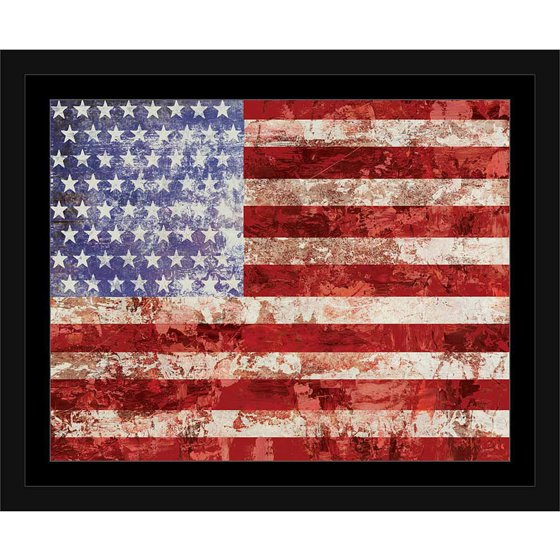 American flag paint texture patriotic western painting red for Painted american flag wall art