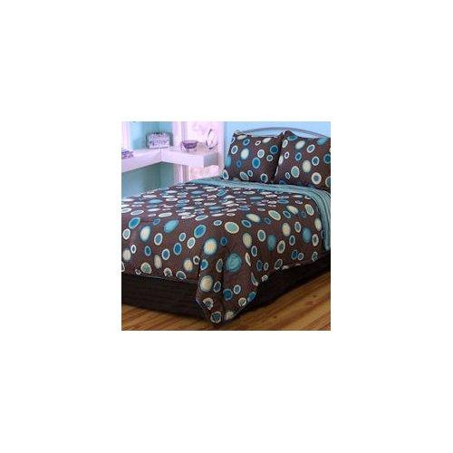 PEM America Dot Com Queen Comforter Set with Bonus Pillows