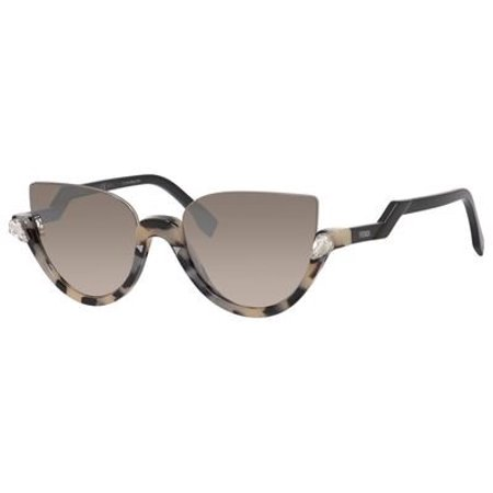 Fendi Women's Blink FF 0138/S Sunglasses, Havana Shiny Black/Brown