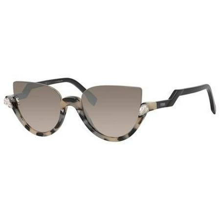 Fendi Women's Blink FF 0138/S Sunglasses, Havana Shiny Black/Brown (Fender Clothing)
