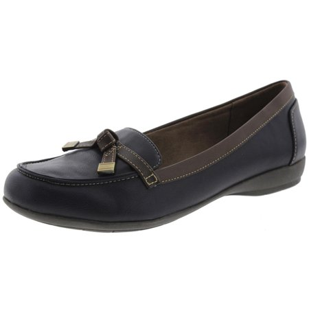 0b2d26f96ac Natural Soul Womens Gracee Faux Leather Loafers - Walmart.com