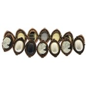 Mi Amore Cameo Fashion-Bracelet Bronze-Tone/Multicolor