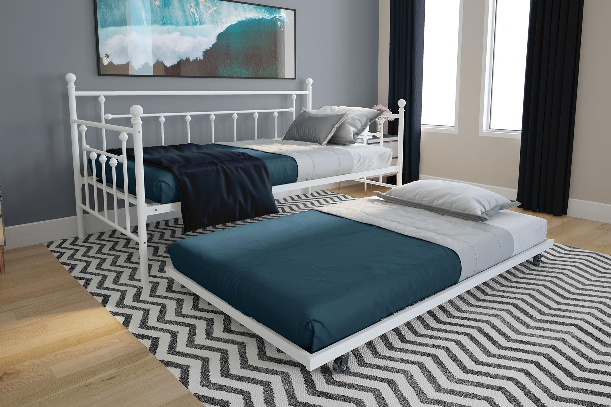 Dhp Manila Twin Size Metal Daybed And Twin Size Trundle