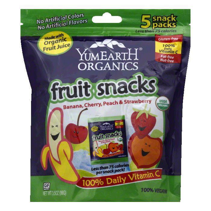 YumEarth Snack Packs Fruit Snacks, 3.5 Oz (Pack of 12)