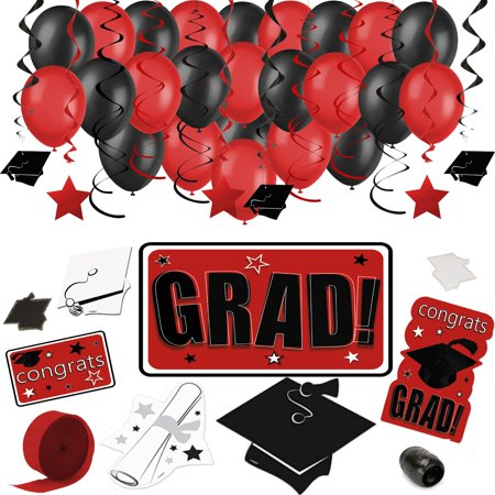 Congrats Grad Deluxe Graduation 68pc Decoration Pack - Choose Your School Colors](Graduation Ideas For High School)