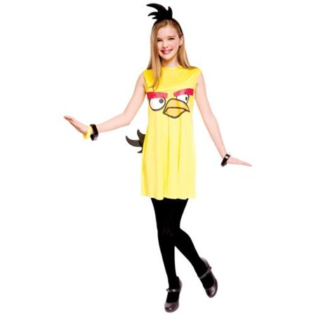 Angry Birds Yellow Bird Child/Tween Costume - Angry Birds Halloween Costume Homemade
