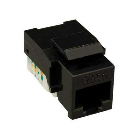 White Keystone Style Port (Cable Leader KJ302-1000 Cat5e RJ45 UTP Tool Less Keystone Jack - Black Color)
