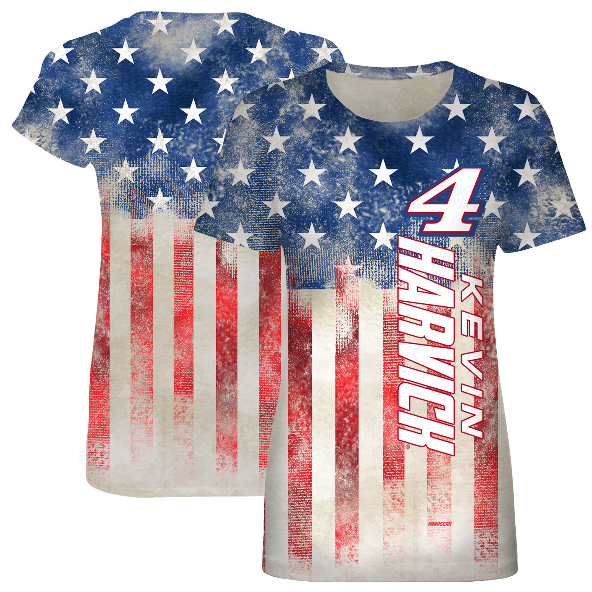 Kevin Harvick Women's Patriotic Sublimated T-Shirt - Red/Navy