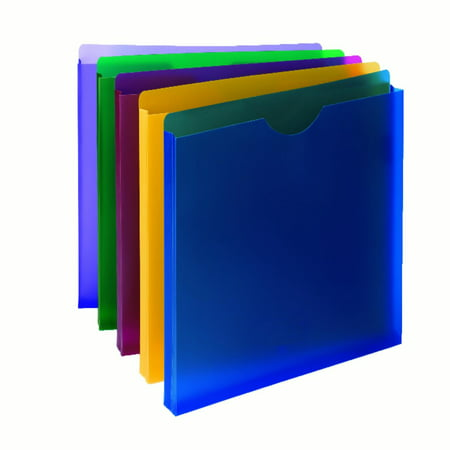 Smead Poly File Jacket  Straight Cut Tab  1  Expansion  Letter Size  Assorted Colors  10 Per Pack  89610