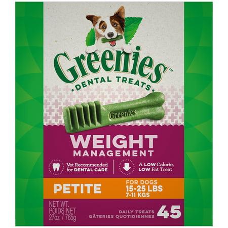 Dog Liver Cookies - GREENIES Weight Management Petite Natural Dental Dog Treats, 27 oz. Pack