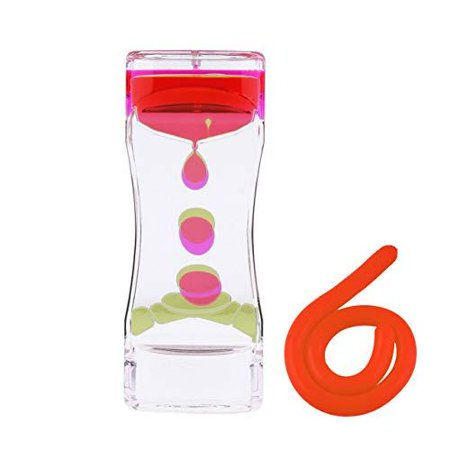 Liquid Motion Bubbler Sensory Toys – 2 Pc Set Bundle Stretchy String Fidget Toys Timer for Stress Relief and Anxiety Relief Great for Toddler, Children, Kids, Adults, Seniors, ADHD Autis - Timers For Kids