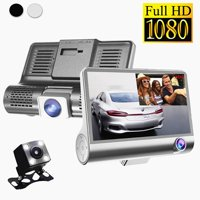 """4.0"""" Full HD 1920*1080P Car Dashboard Camera 170° 6-glass Lens Night Vision Dual/Three Lens Front Rear DVR Recorder Parking Camcorder with G-Sensor, WDR, Motion Detection Wide Angl"""