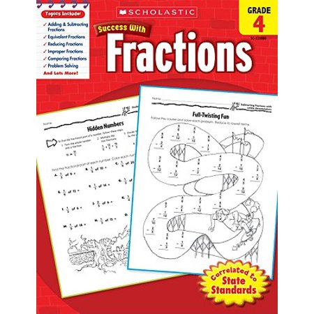 Scholastic Success with Fractions, Grade 4](4th Grade Fractions)