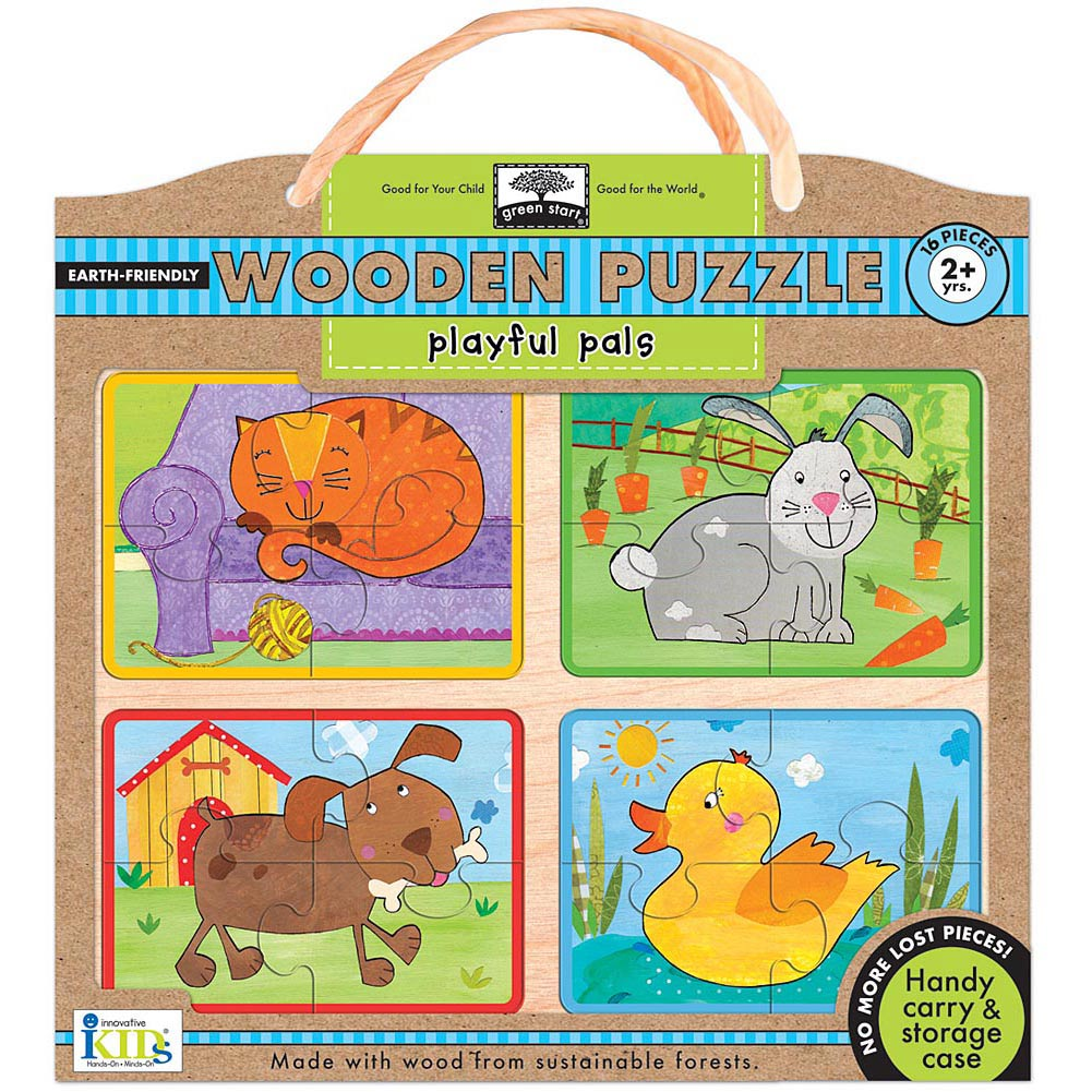 Playful Pals Wooden 16 Piece Puzzle